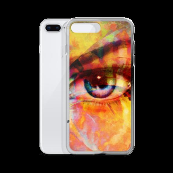 beautiful woman eye iPhone Case