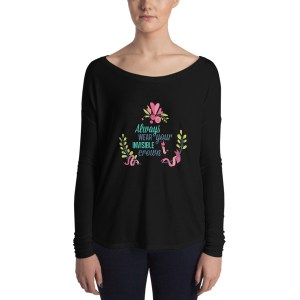 Ladies' Always Wear Your Invisible Crown Long Sleeve Tee