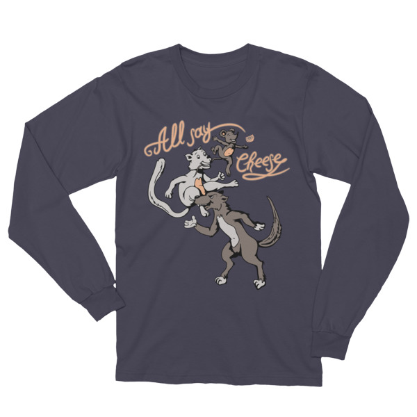 17584ff1f Unisex Funny Cat And Dog Long Sleeve T-Shirt ⋆ What Devotion?