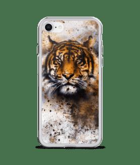 wildlife tiger, eye contact iPhone Case