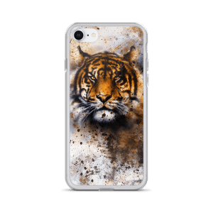 wildlife tiger, eye contact iPhone Case
