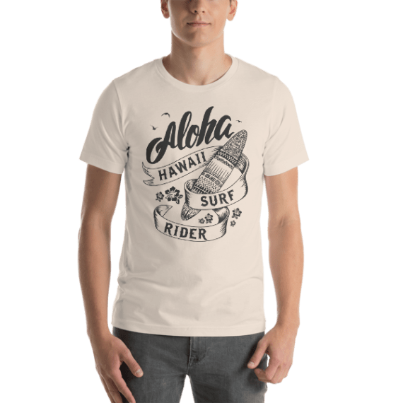 ALOHA HAWAII SURF RIDER Short Sleeve Unisex T-Shirt