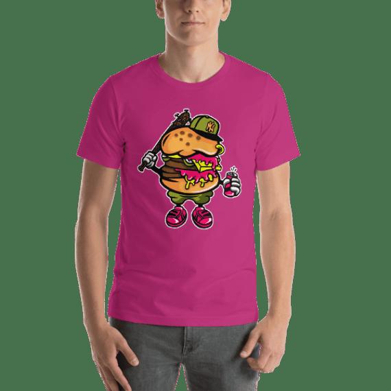 Burger Bastard Short Sleeve Unisex T-Shirt