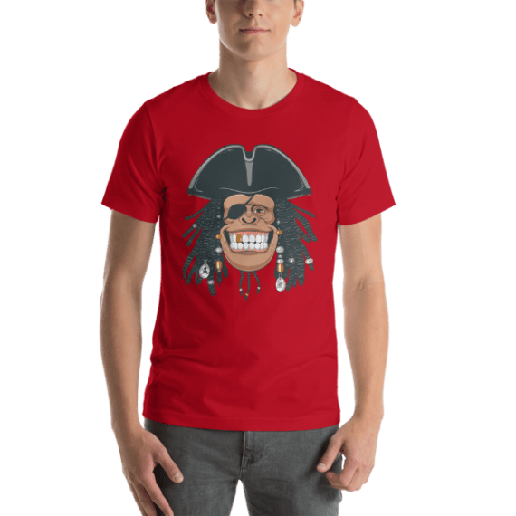 Funny Pirate Monkey Short Sleeve Unisex T-Shirt