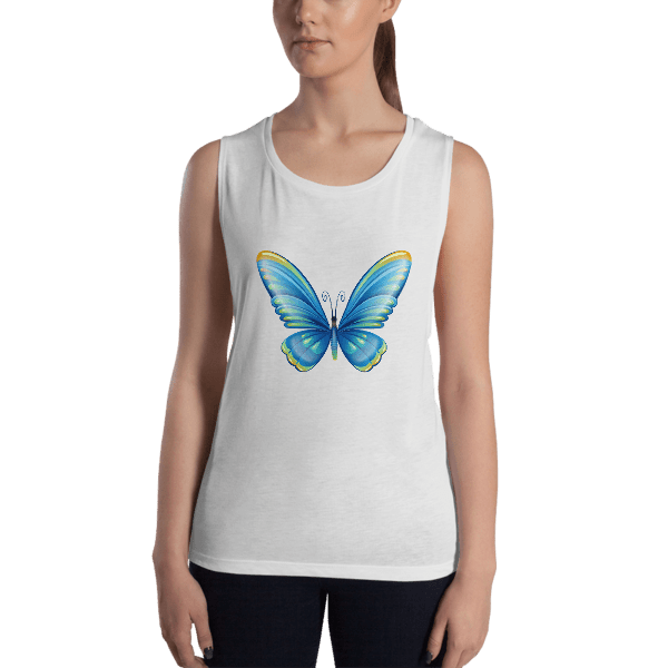 Ladies' Cute Butterfly Muscle Tank Top