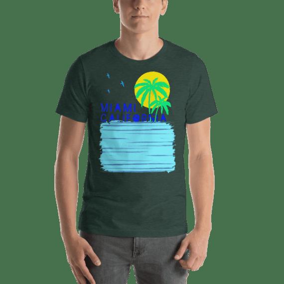 Miami California Short Sleeve Unisex T-Shirt
