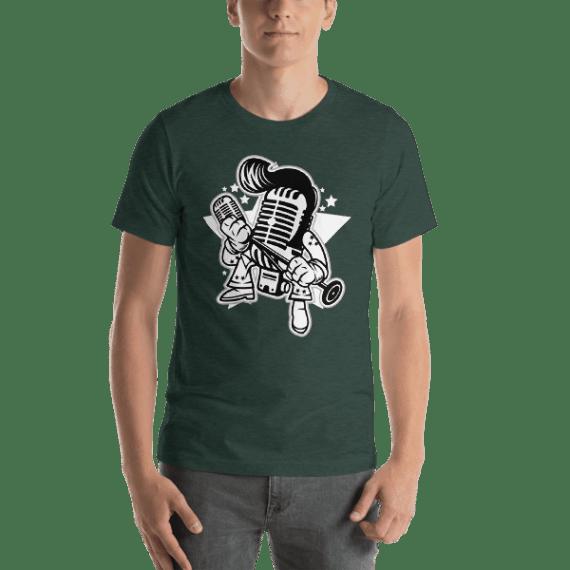 Microphone King Short Sleeve Unisex T-Shirt