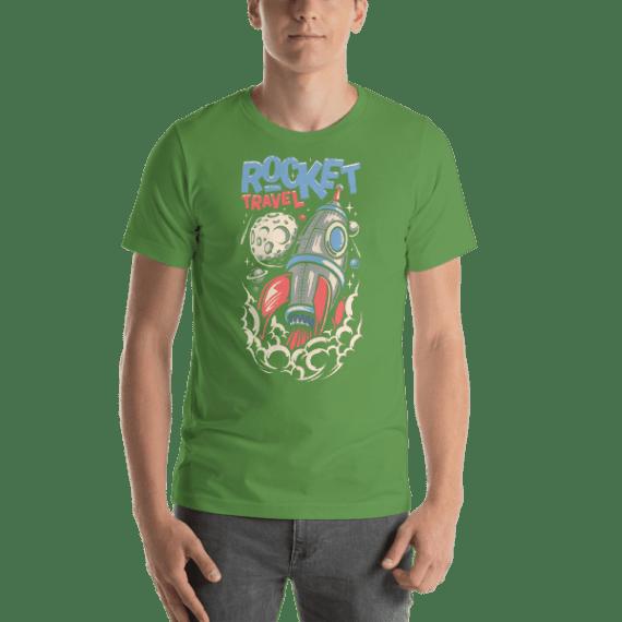Rocket Travel Short Sleeve Unisex T-Shirt