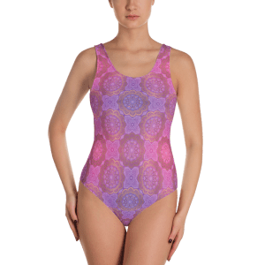 Sexy Festival One-Piece Swimsuit - Women's Beachwear Bathing Suit