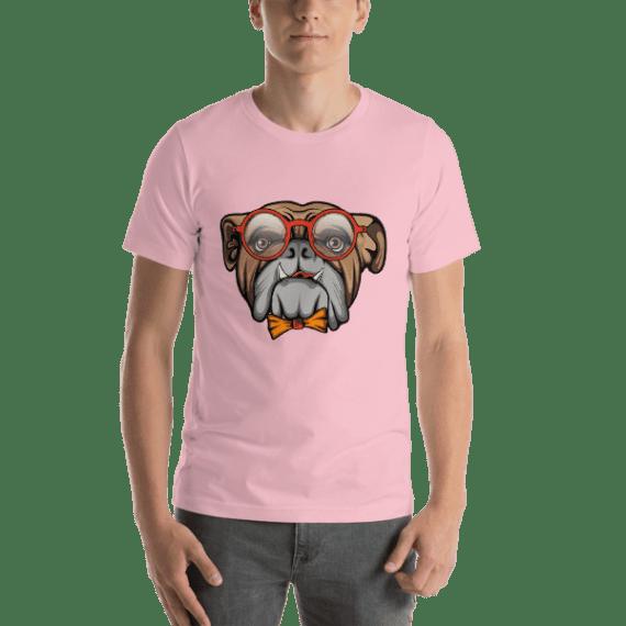 Smart Bulldog Short Sleeve Unisex T-Shirt