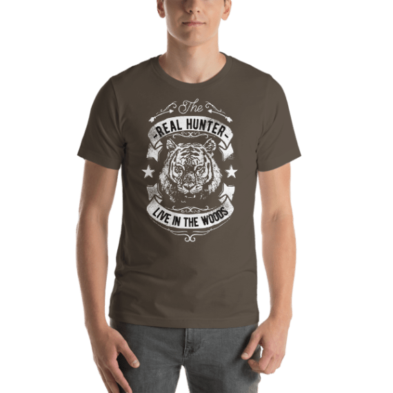 The Real Hunter Live in The Woods Short Sleeve Unisex T-Shirt