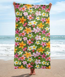 Tropical Flowers Towel