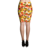 White and Yellow Flowers and Butterflies Pencil Skirt