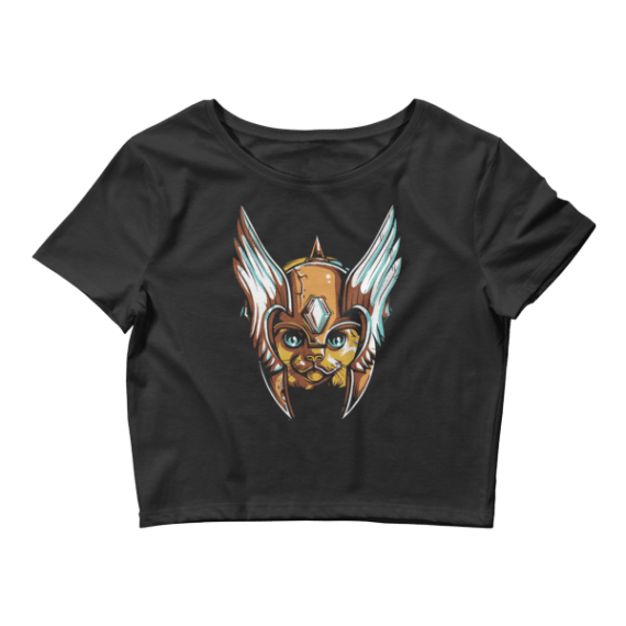 Women's Angelic Cat Crop Top