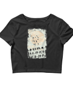 Women's Birds Silhouettes Crop Top