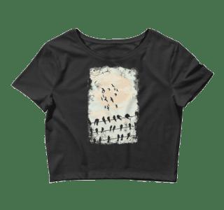 Women's Birds Silhouettes Crop Top