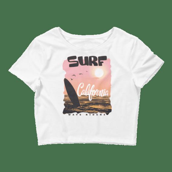 Women's California Wave Rider Crop Top