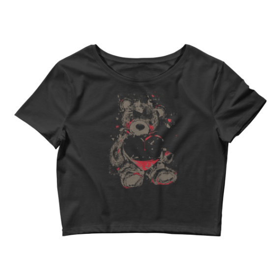 Women's Crying Teddy Bear Crop Top
