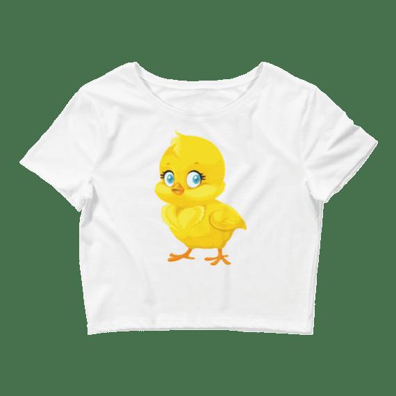 Women's Cute Little Chick Crop Top