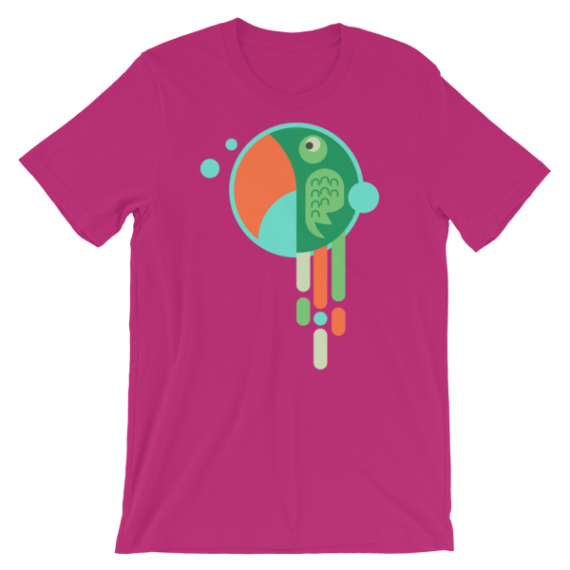 Women's Cute Parrot Short Sleeve T-Shirt
