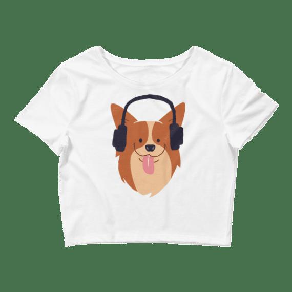 Women's Funny Dog Crop Top