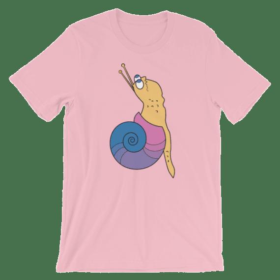 Women's Funny Snail Short Sleeve T-Shirt