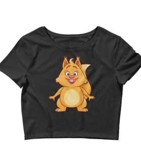 Women's Funny Squirrel Crop Top