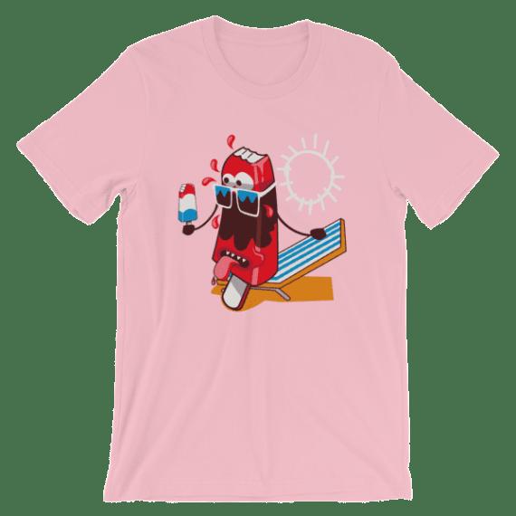 Women's Hot Summer Ice Cream Short Sleeve T-Shirt