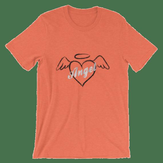 Women's Hot Summer Shirts - Angel Heart Short Sleeve T-Shirt