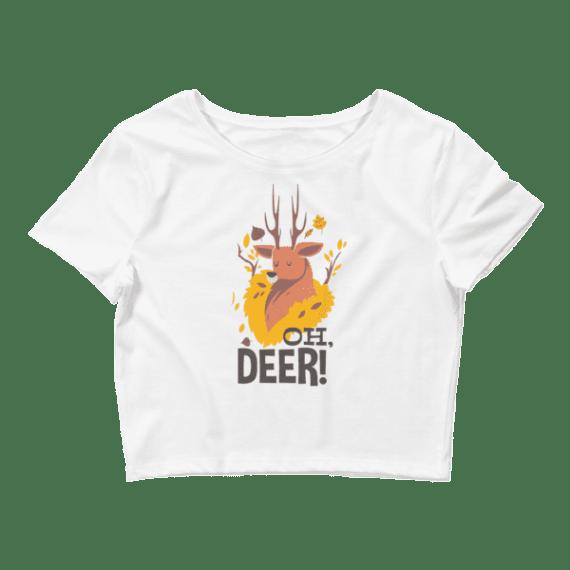Women's Oh Deer! Crop Top