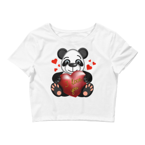 Women's Panda Loves You Crop Top