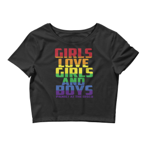 Women's Panic! At The Disco - Girls Love Girls and Boys Crop Top