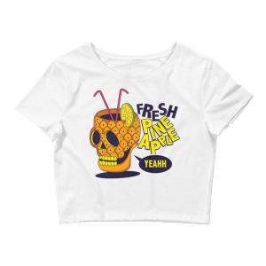 Women's Pineapple Skull Crop Top