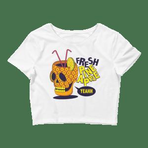 Women's Pineapple Skull Crop Top