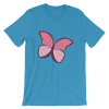 Women's Pink Butterfly Short Sleeve T-Shirt