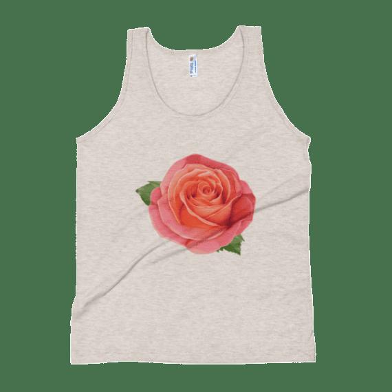 Women's Pink Rose Tank Top