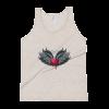 Women's Red Heart with Dark Angel Wings Tank Top