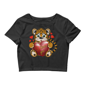 Women's Tiger Loves You Crop Top