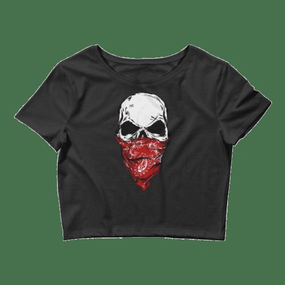 Women's Warrior Skull Crop Top
