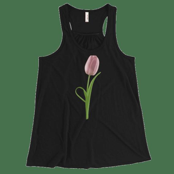Women's Adorable Pink Spring Flower Flowy Racerback Tank Top