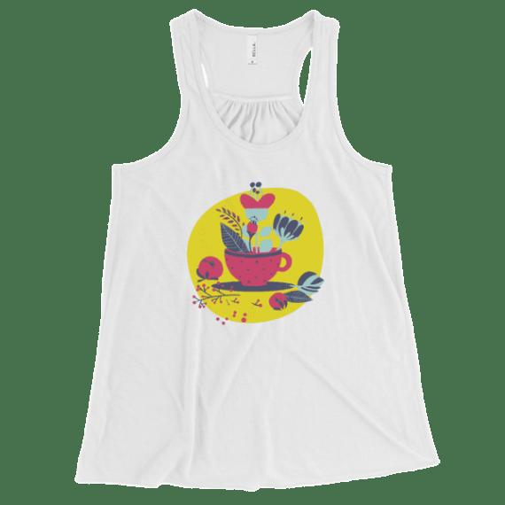 Women's Cup of Life Flowy Racerback Tank