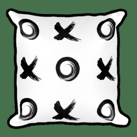 Black Xo Square Pillow