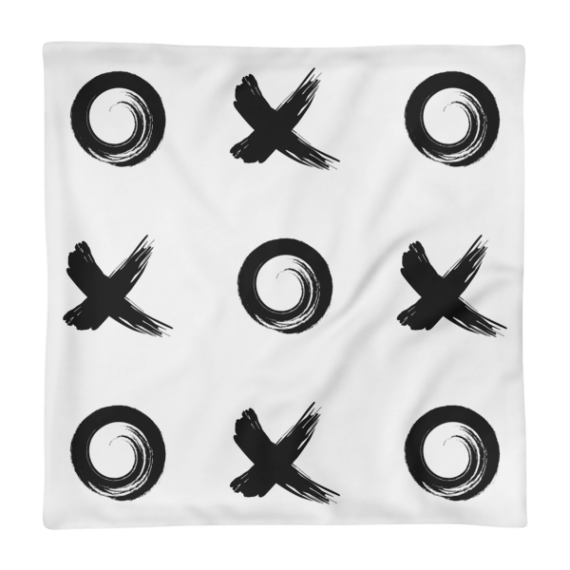 Black Xo Square Pillow Case only