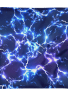 Blue Electric Lightnings Thunders Square Pillow Case only