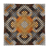 Checkered Ornamental Print Square Pillow Case only