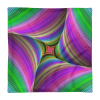 Colorful Fractal Print Square Pillow Case only