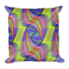 Colorful Spiral Stripes Square Pillow