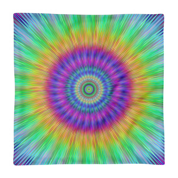 Colorful Vibrant Tie Dye style Burst Print Square Pillow Case only