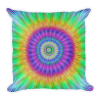Colorful Vibrant Tie Dye style Burst Square Pillow