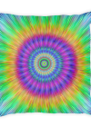 Colorful Vibrant Tie Dye style Burst Square Pillow